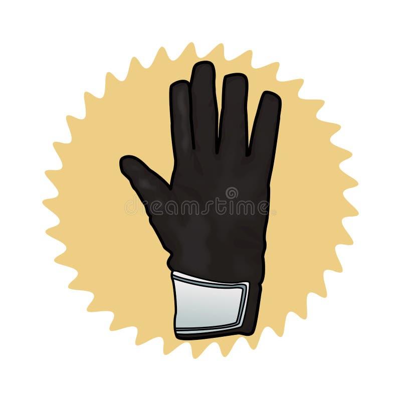 bramkarz rękawiczki ikona ilustracja wektor