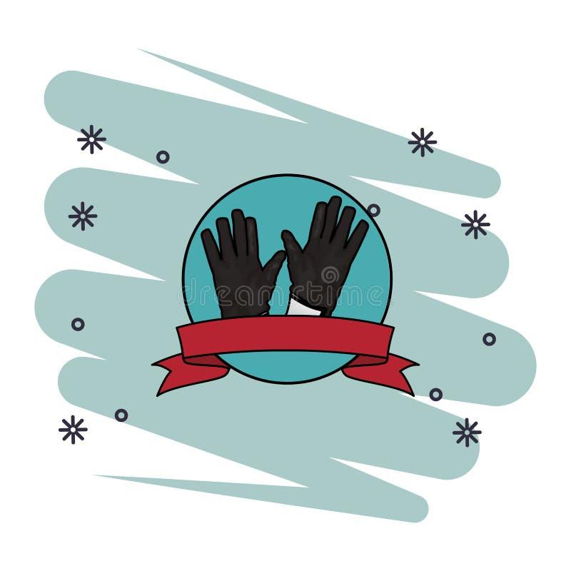 bramkarz rękawiczki ikona royalty ilustracja