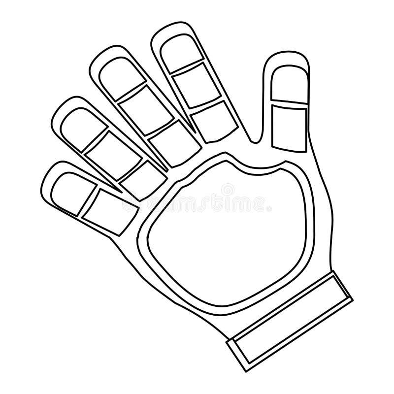 bramkarz rękawiczki ikona ilustracji
