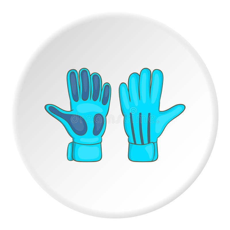 Bramkarz rękawiczki ikony, kreskówka styl ilustracji