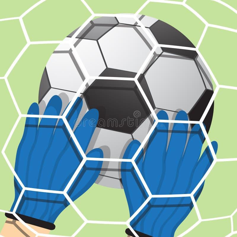 Bramkarz uderzał piłkę ilustracja wektor