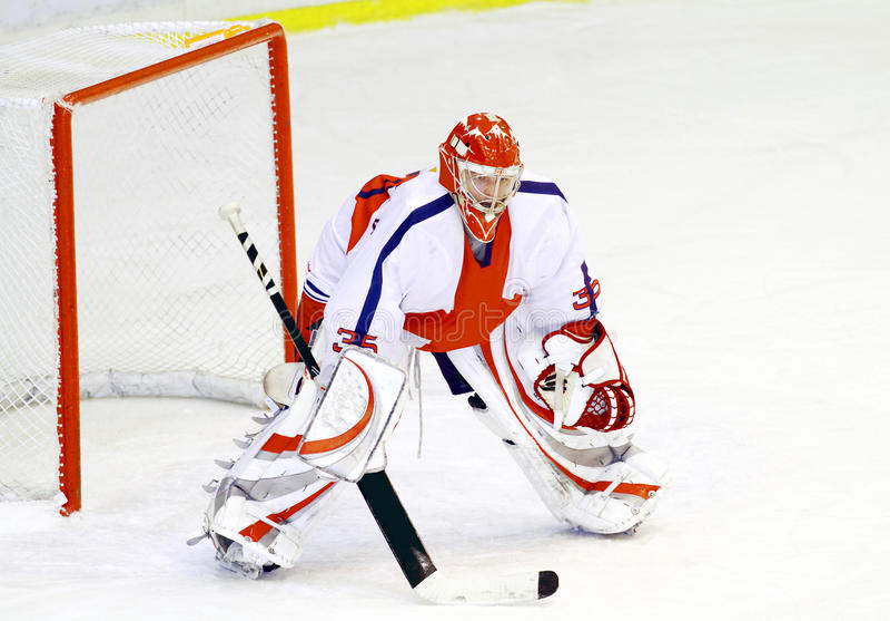 bramkarza hokej zdjęcia royalty free
