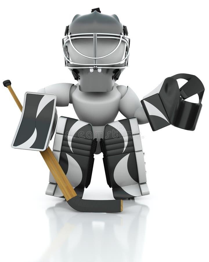 bramkarza hokeja lód royalty ilustracja