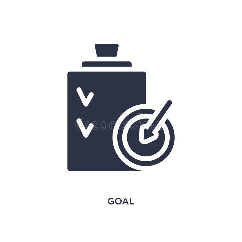 Bramkowa ikona na białym tle Prosta element ilustracja od strategii pojęcia ilustracji