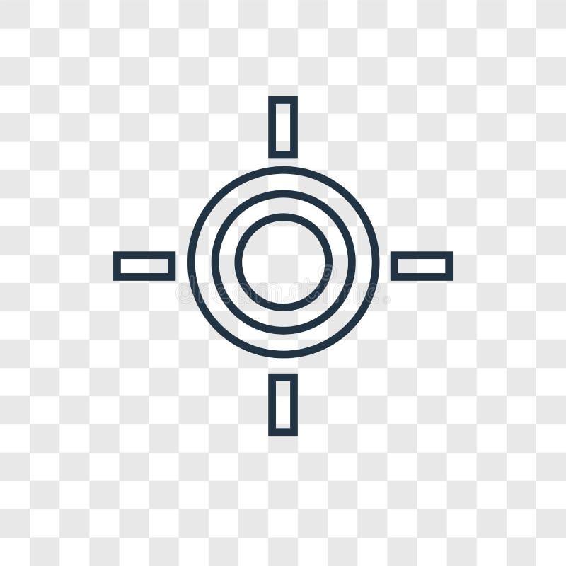 Bramkowego pojęcia wektorowa liniowa ikona odizolowywająca na przejrzystym backgrou ilustracji