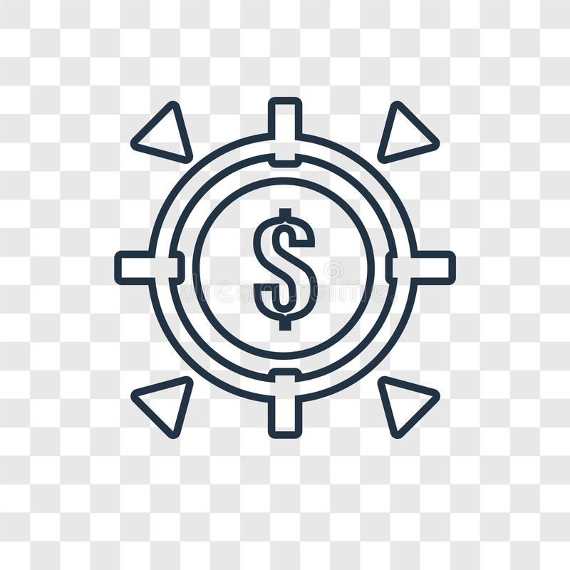 Bramkowego pojęcia wektorowa liniowa ikona odizolowywająca na przejrzystym backgrou royalty ilustracja