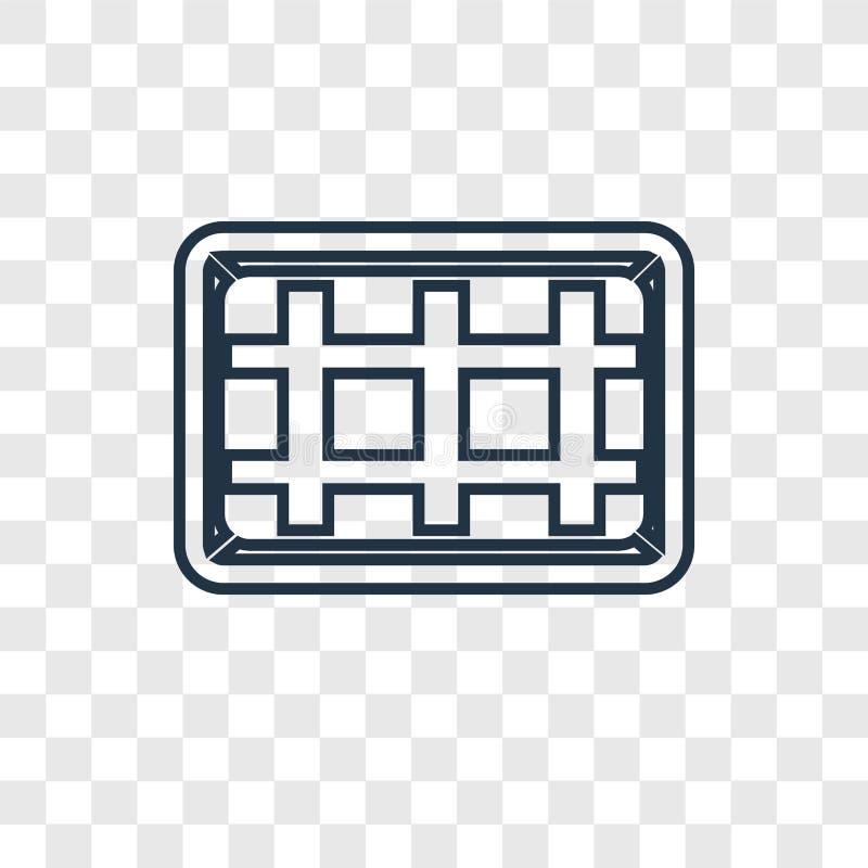 Bramkowego pojęcia wektorowa liniowa ikona odizolowywająca na przejrzystym backgrou ilustracja wektor