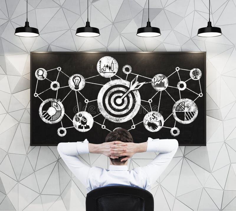 Bramkowy diagram na blackboard zdjęcia royalty free