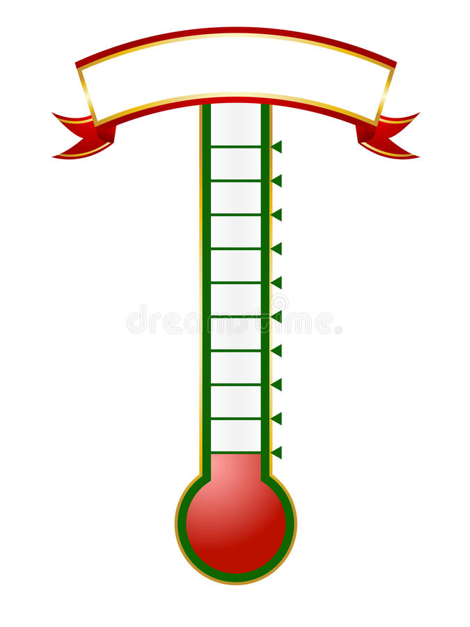 Bramkowy termometr ilustracja wektor