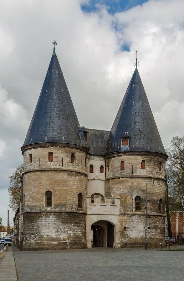 Bramy Bishop& x27; s pałac, Beauvais, Francja obrazy stock