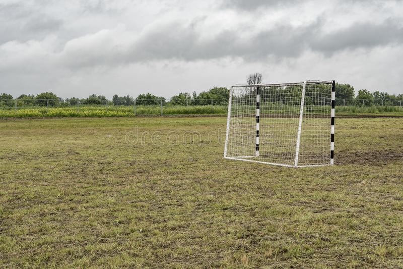 Bramy dla mini futbolu obrazy stock