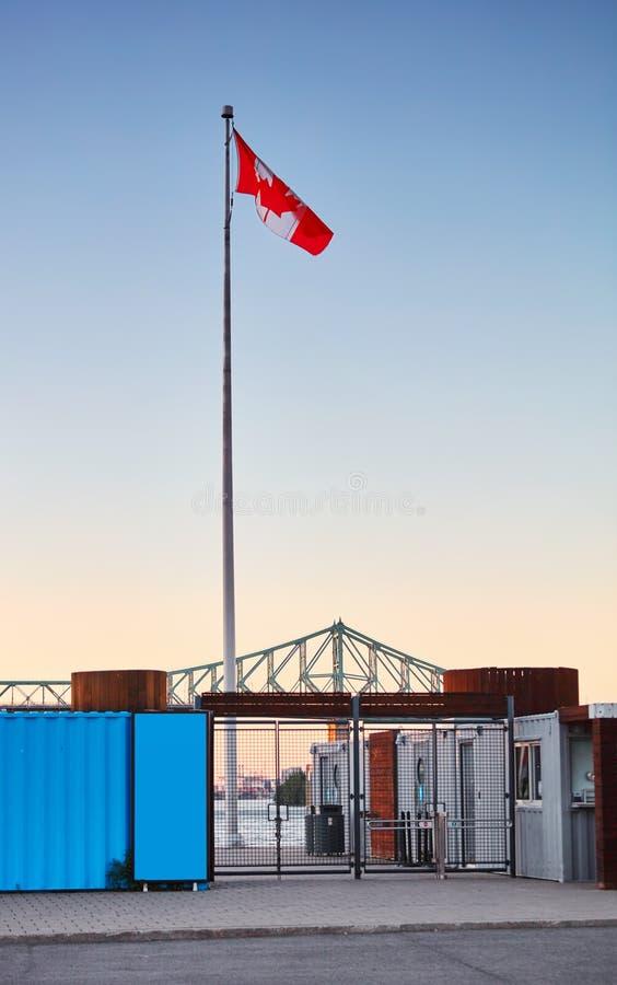 Bramy drzwi stary port Montreal Kanada obrazy stock