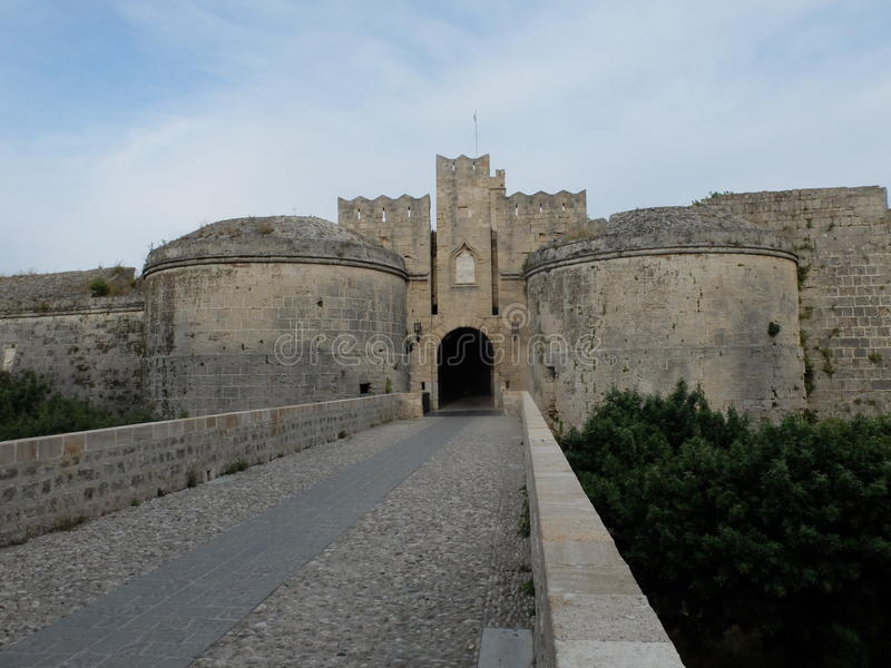 Bramy forteca i most obrazy stock