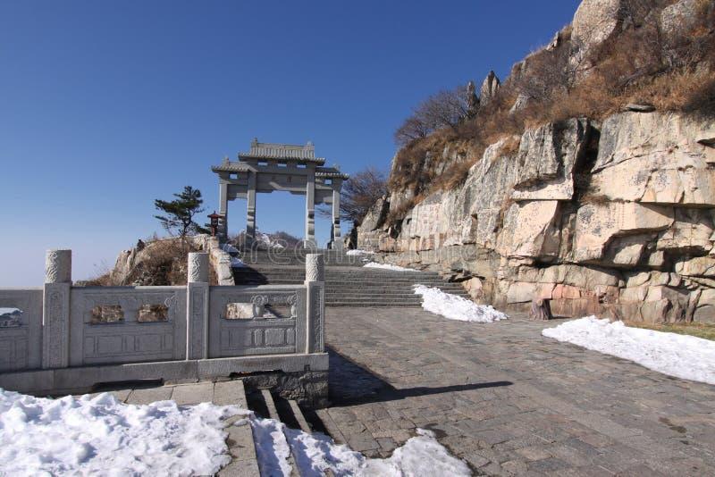bramy góry Shandong taishan wierzchołek zdjęcia stock