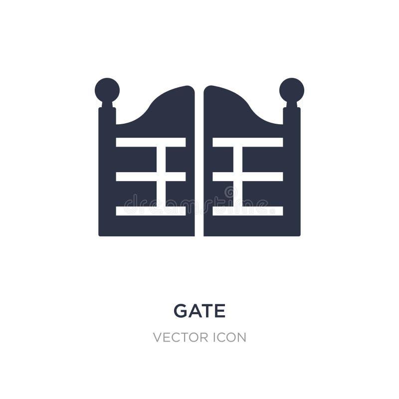 bramy ikona na białym tle Prosta element ilustracja od miasto elementów pojęcia ilustracji