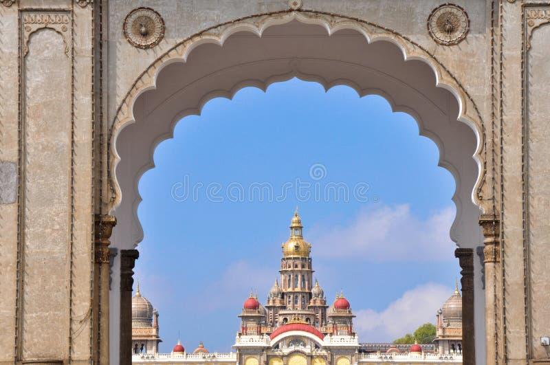 bramy ind główny Mysore pałac obraz stock