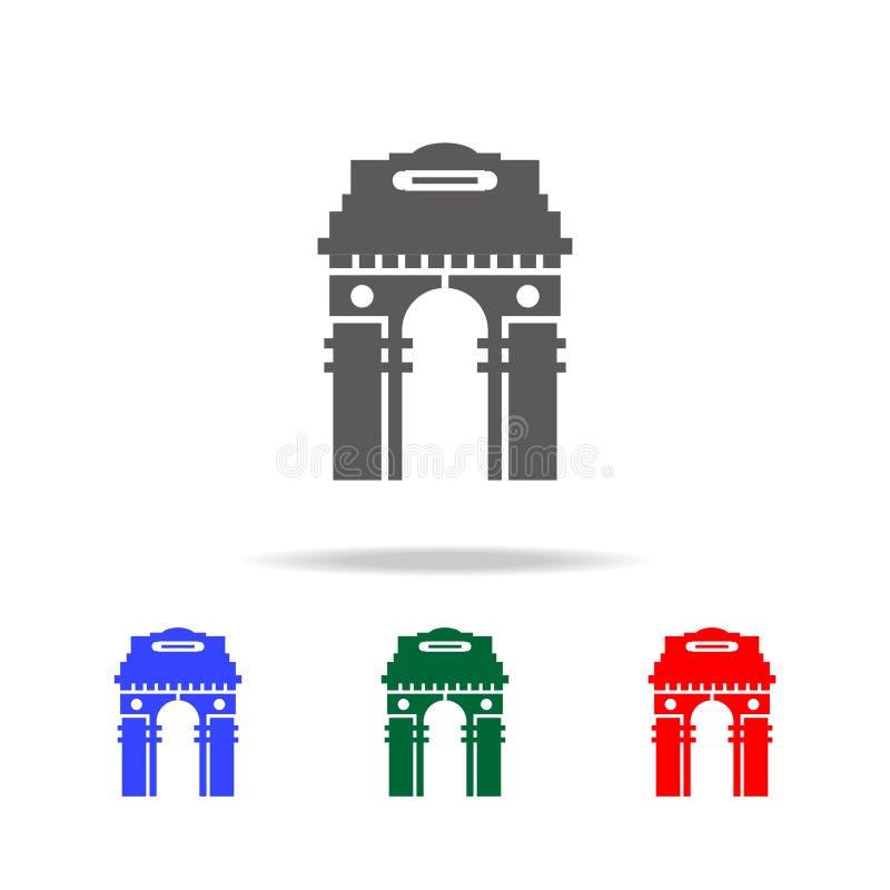 bramy India ikona Elementy Indiańskiej kultury wielo- barwione ikony Premii ilości graficznego projekta ikona Prosta ikona dla si ilustracji