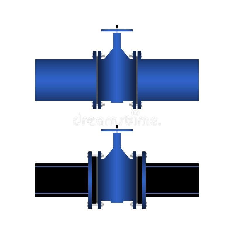 Bramy klapa w połączeniu z drymbami ilustracji