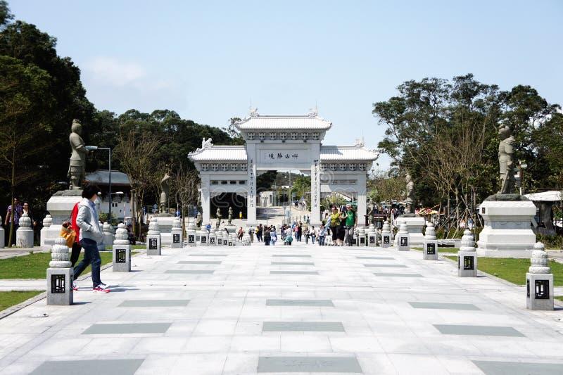 bramy Lin monaster po zdjęcie stock