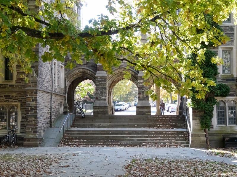 Bramy między Henry i Folke sala w kampusie przy Princeton Unive obrazy stock