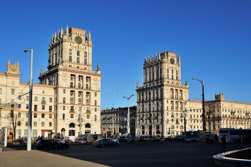 Bramy Minsk, bliźniacze wieże Białoruś obrazy royalty free