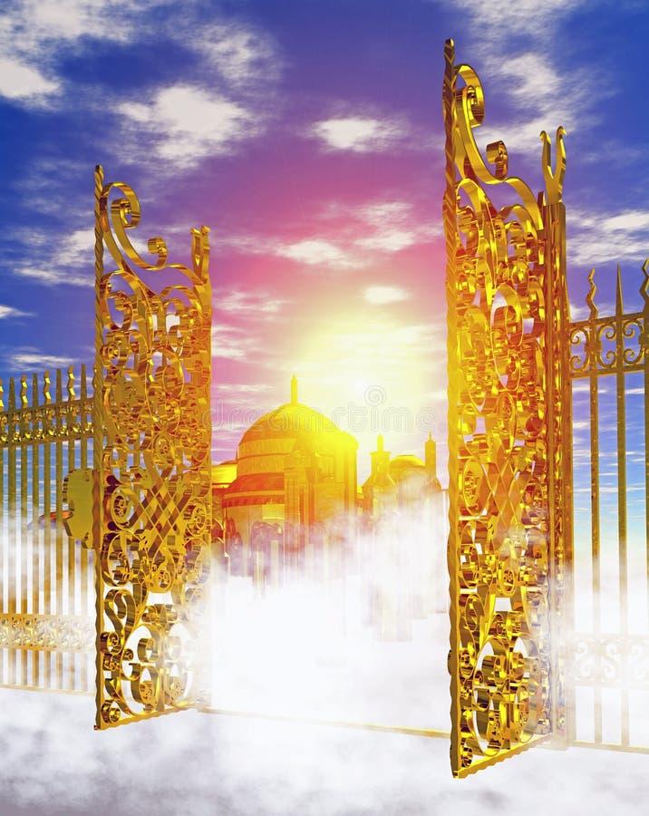 bramy nieba jpg ilustracji