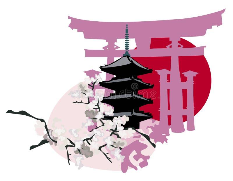 bramy pagody torii royalty ilustracja