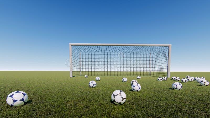 Bramy piłki nożnej wschód słońca obraz stock