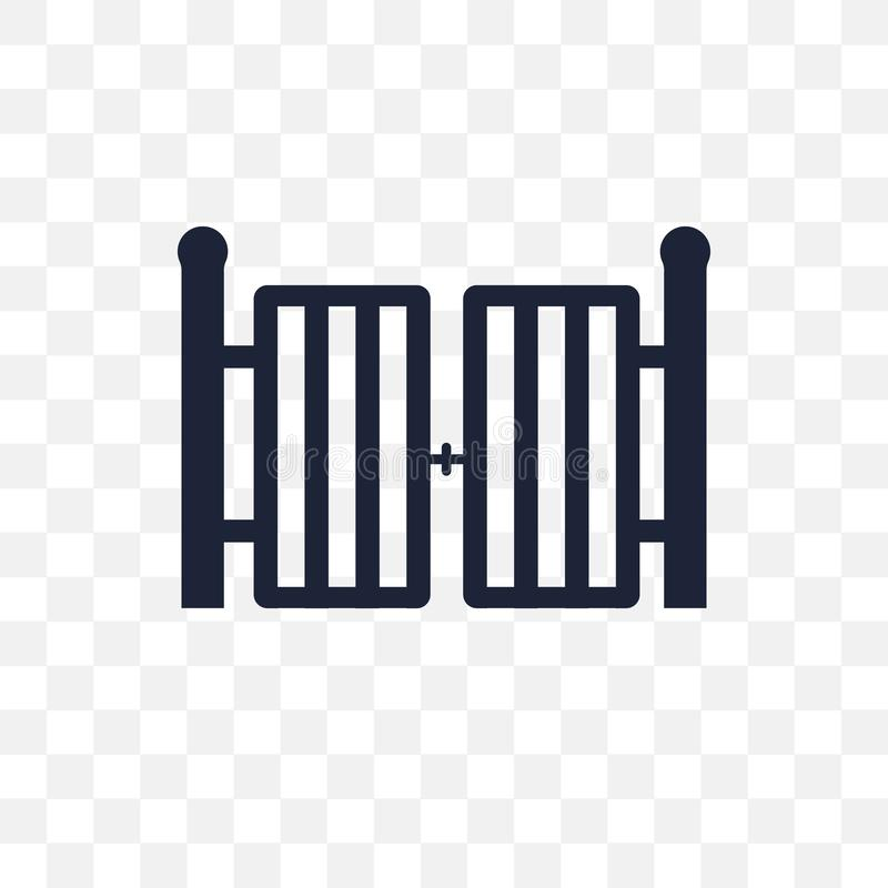 Bramy przejrzysta ikona Brama symbolu projekt od architektury coll royalty ilustracja