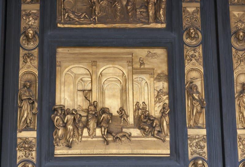 Bramy raj Duomo baptysterium w Florencja fotografia stock