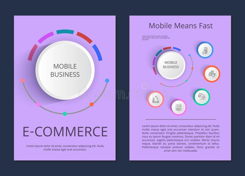 Branża Urządzeń Przenośnych handlu elektronicznego wektoru ilustracja ilustracji