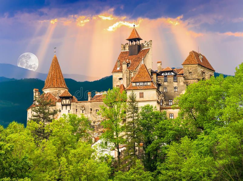 Bran castle stock photo
