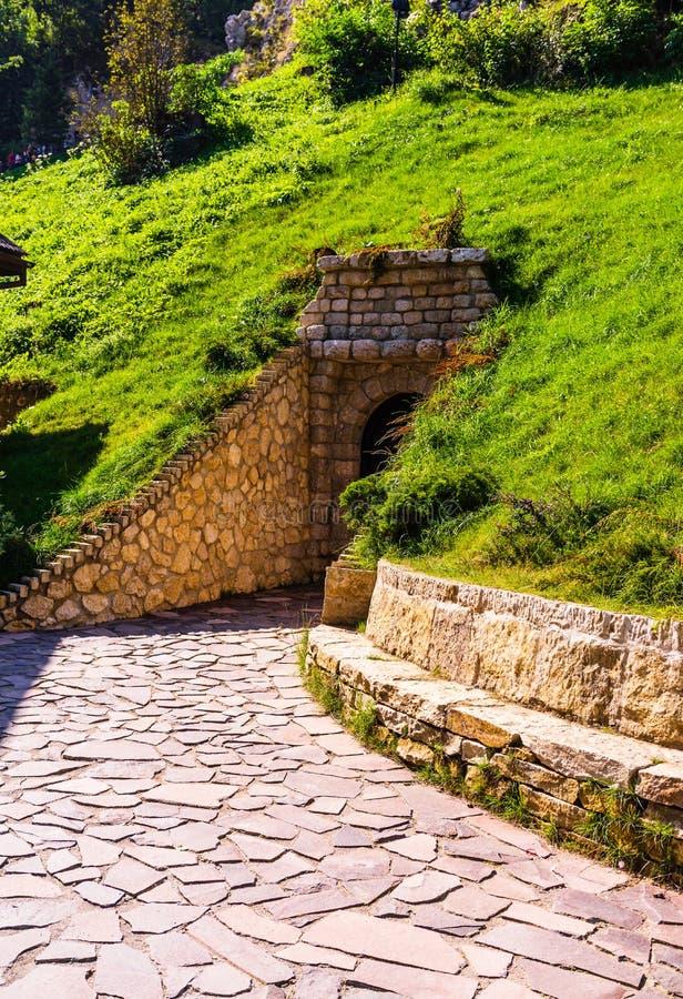 Bran Castle Castelul Bran. Old secret door of Bran Castle.  royalty free stock images