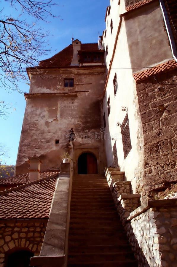 Bran castle entrance stock images