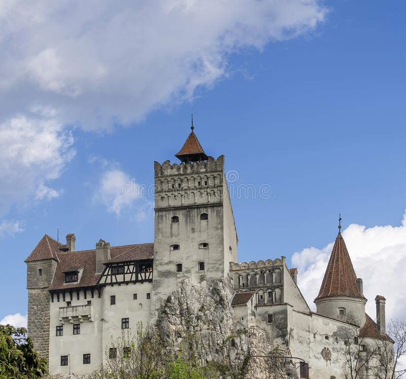 Bran Castle famous for the myth of Dracula, Brasov, Romania royalty free stock photo