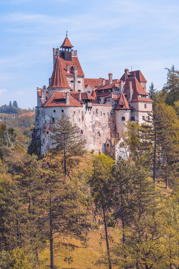 Bran Castle. Known as Dracula's Castle is situated near Bran and in the immediate vicinity of Brasov, is a national monument and landmark in Romania royalty free stock photo