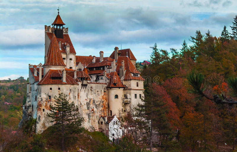 Bran castle, Romania. A view of Bran Castle in Romania. Vlad the Impaler Dracula, the ruler of Wallachia lived here stock image