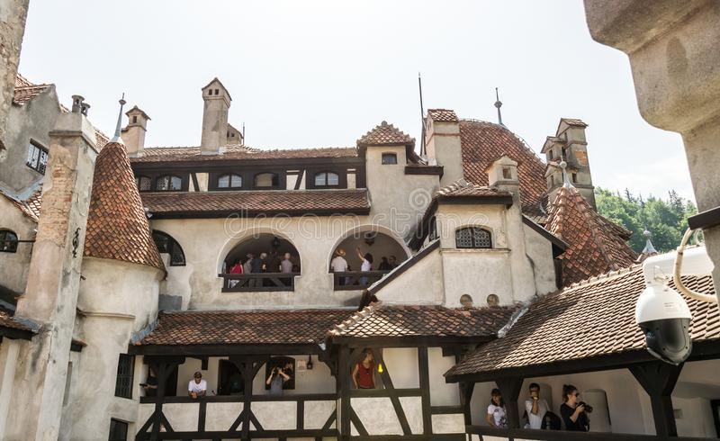 Bran Castle in Transylvania. Tourist attraction of Romania. Residence of Count Dracula royalty free stock image