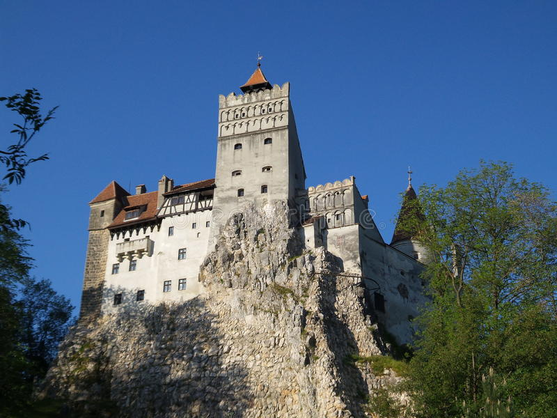 Bran castle. A view of Bran castle from Romania in autumn view. Dracula's castle stock images