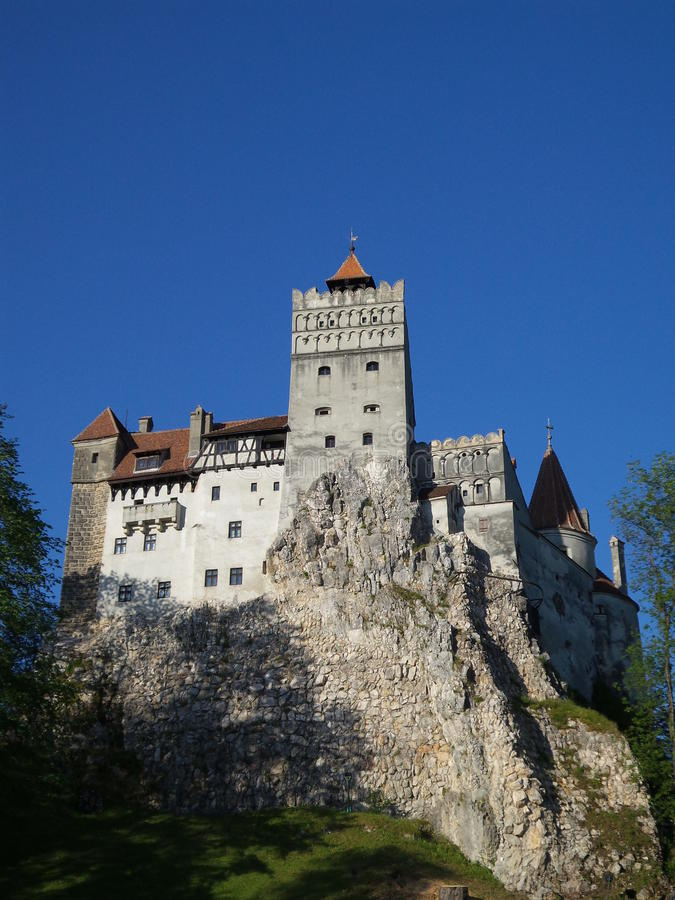 Bran castle. A view of Bran castle from Romania in autumn view. Dracula's castle royalty free stock images