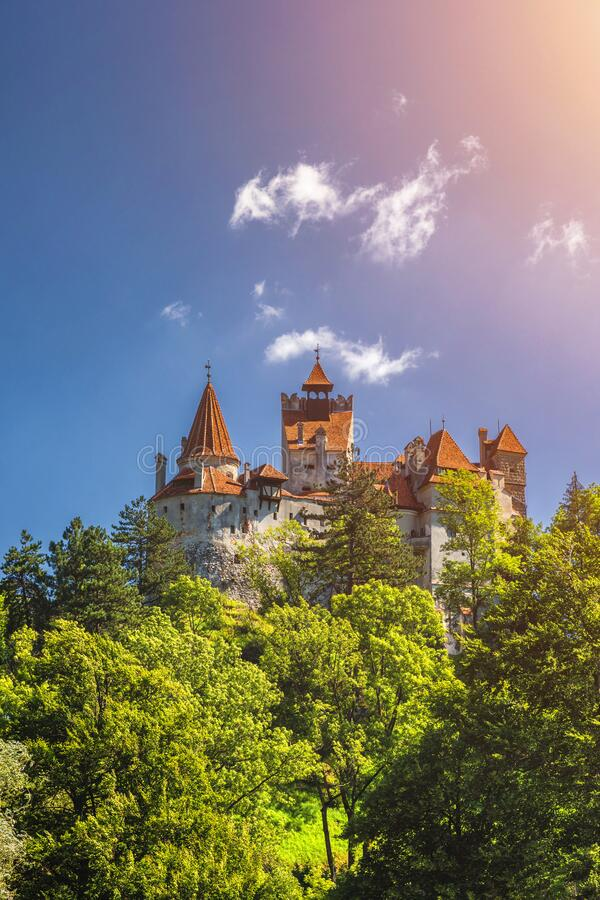 Bran Dracula historical castle of Transylvania, in Brasov region, Romania, Europe.  royalty free stock photo
