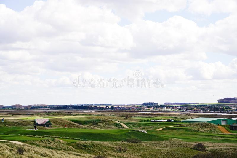 Over the golf course Brancaster. royalty free stock photography