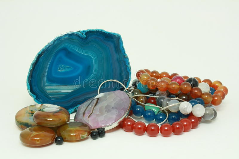Brancelets, gems and minerals. royalty free stock image