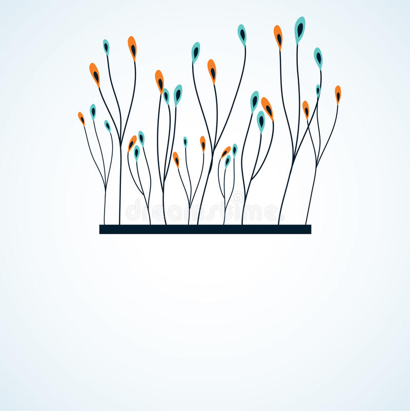 Download Branch Of Abstract Flowers. Stock Vector - Image: 14905648