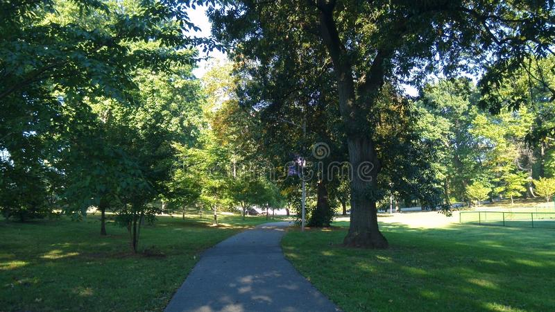 Branch brook park. The nation`s first county park, is located in the North Ward of Newark, between the neighborhoods of Forest Hill and Roseville. A portion of royalty free stock image