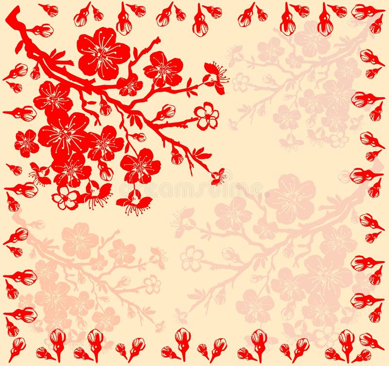 Download Branch Of The Cherry Blossoms Stock Vector - Illustration: 14355491