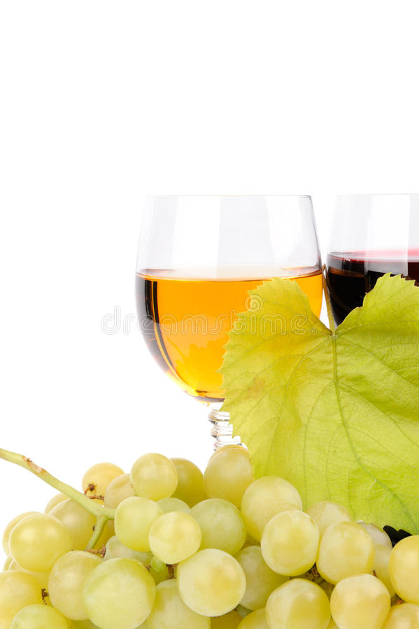 Download Branch Of Grapes And Glass Of Wine Stock Photo - Image: 27352922