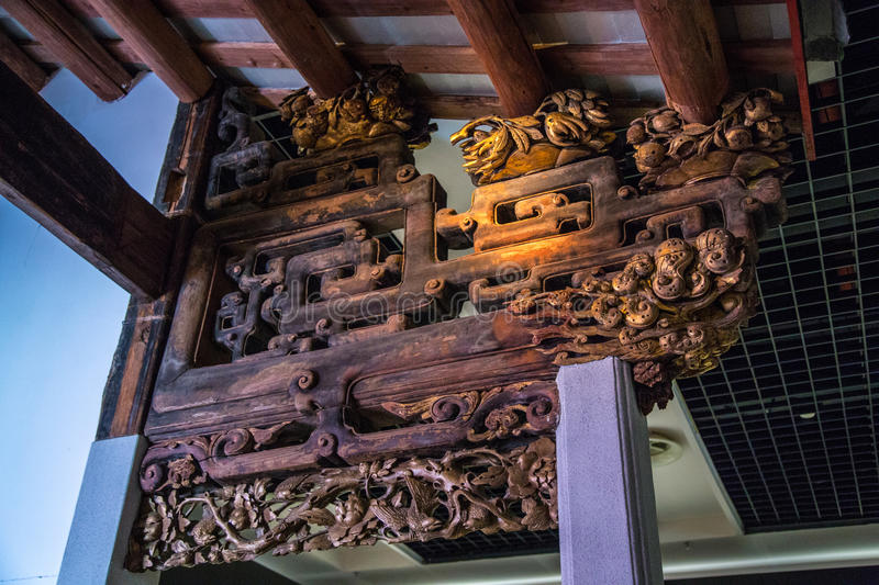 A branch of the Guangdong Museum, dedicated to collections of very high historical value of wood art. With the ancient legacy of the ancient wood products, a stock photo