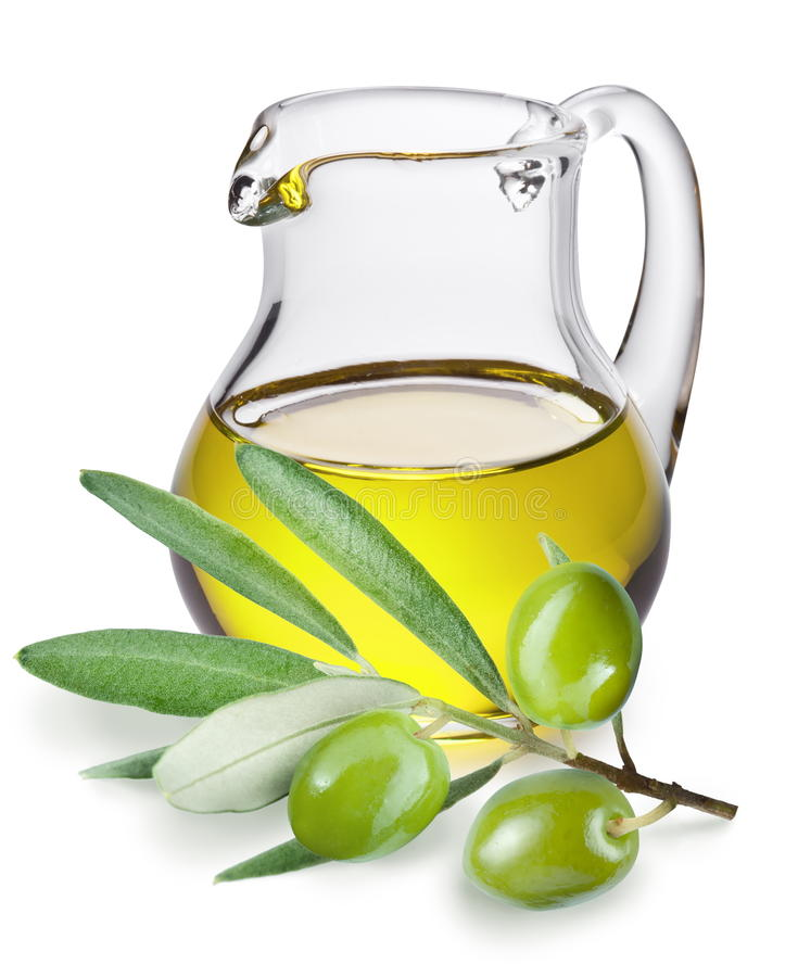Download Branch With Olives And A Bottle Of Olive Oil Stock Photo - Image: 19520672