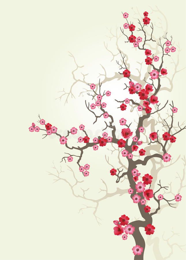 Branch_sakura-02 ilustração do vetor